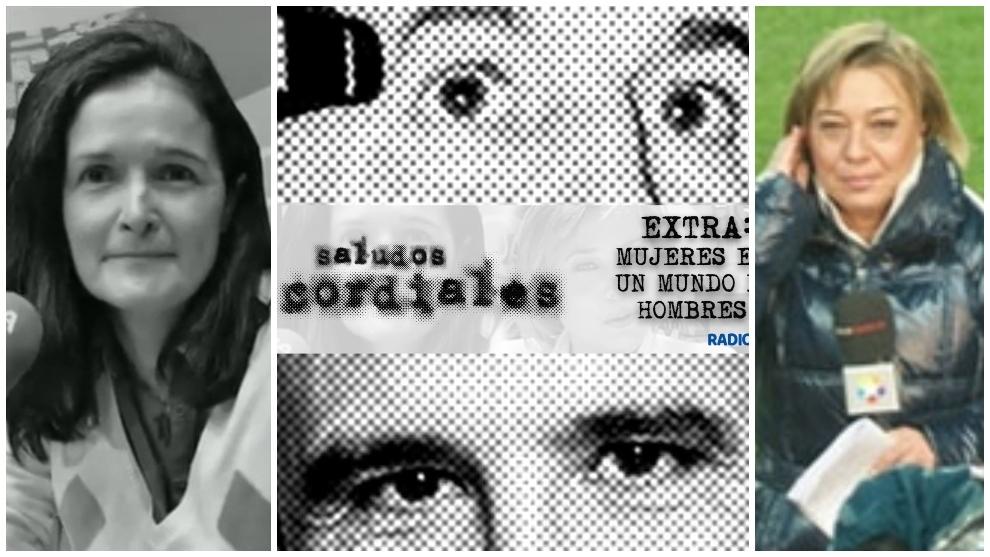 Montaje con la carátula de 'Saludos Cordiales', Cristina Gallo y Chus Galán