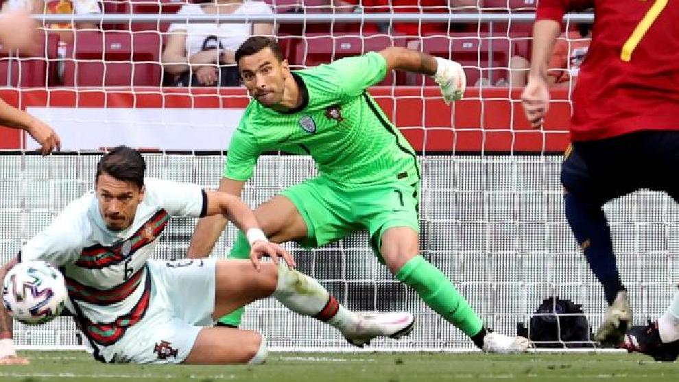 Rui Patricio, en el pasado duelo entre España y Portugal celebrado en el Wanda