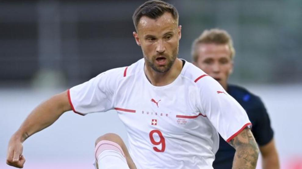 Seferovic, en un reciente partido amistoso de Suiza.