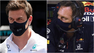 Toto Wolff y Christian Horner.