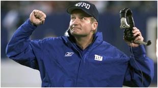 Jim Fassel, en un partido como entrenador de los New York Giants.