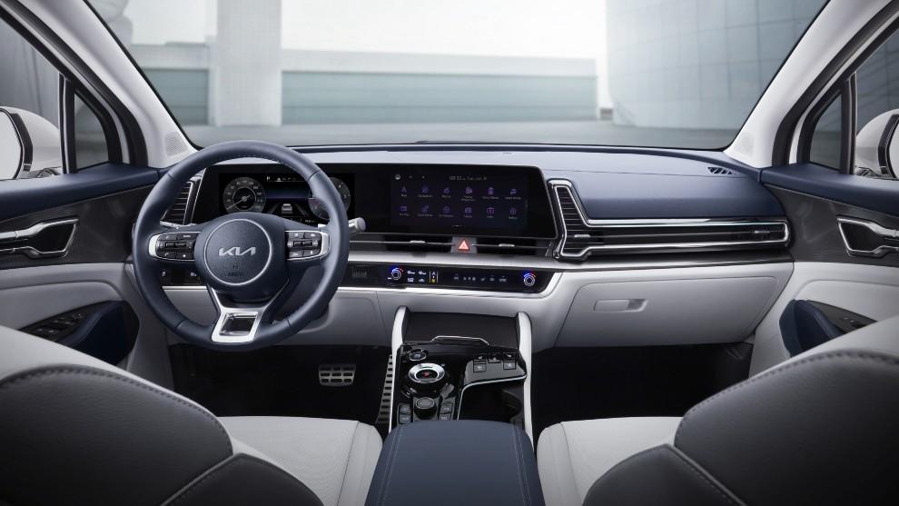 Kia Sportage 2021 - SUV - quinta generación - pantalla curva - interior
