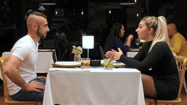 Esteban y Lidia, durante la cena /