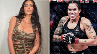 "Amanda Nunes le propone a Kim Kardashian una pelea de MMA: ""Hola..."