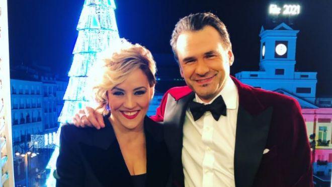 Cristina Pardo e Iñaki López en las Campanadas 2020