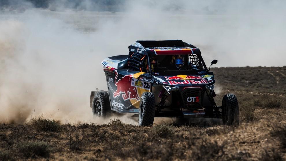 Cristina Gutierrez - Rally Kazajstan - T3 - etapa 1 - victoria de etapa - Copa del Mundo de Rallies Cross Country - OT3 - Red Bull