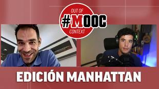 Emilio Doménech (@nanisimo) y José Manuel Calderón, durante la...
