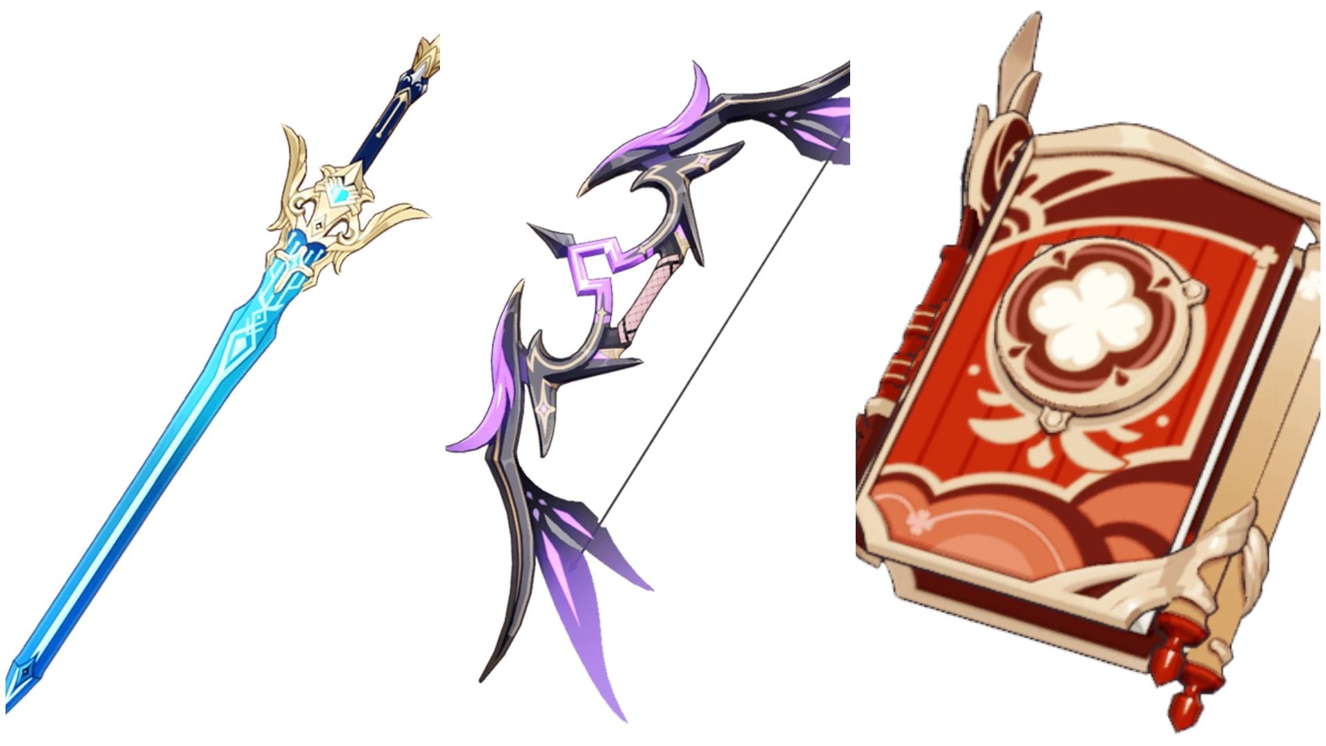 Nuevas armas y equipamiento de la versión 1.6 de Genshin Impact