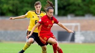 Rosa Márquez (20) contra Bélgica con la Sub-19.