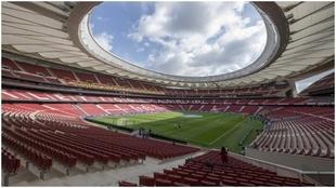 Imagen panorámica del Wanda Metropolitano la temporada pasada.
