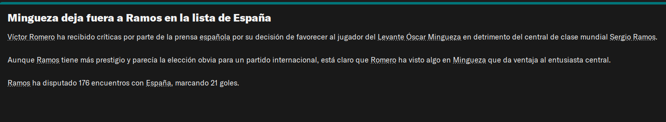 Mingueza deja fuera a Ramos
