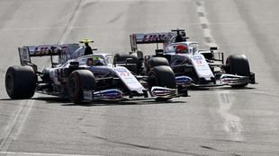 Mazepin y Schumacher, durante la pasada cita de Bakú.
