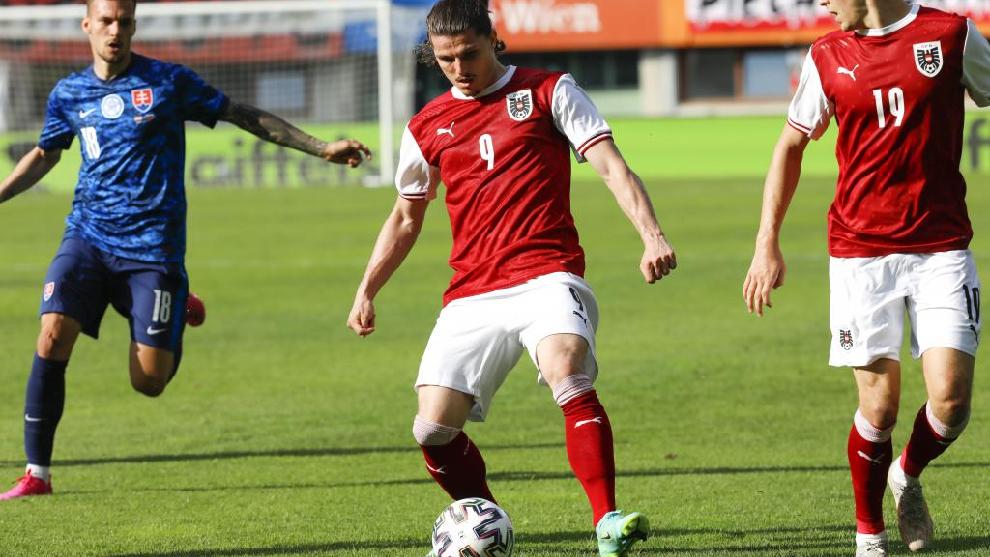 Sabitzer, con la selección austríaca.