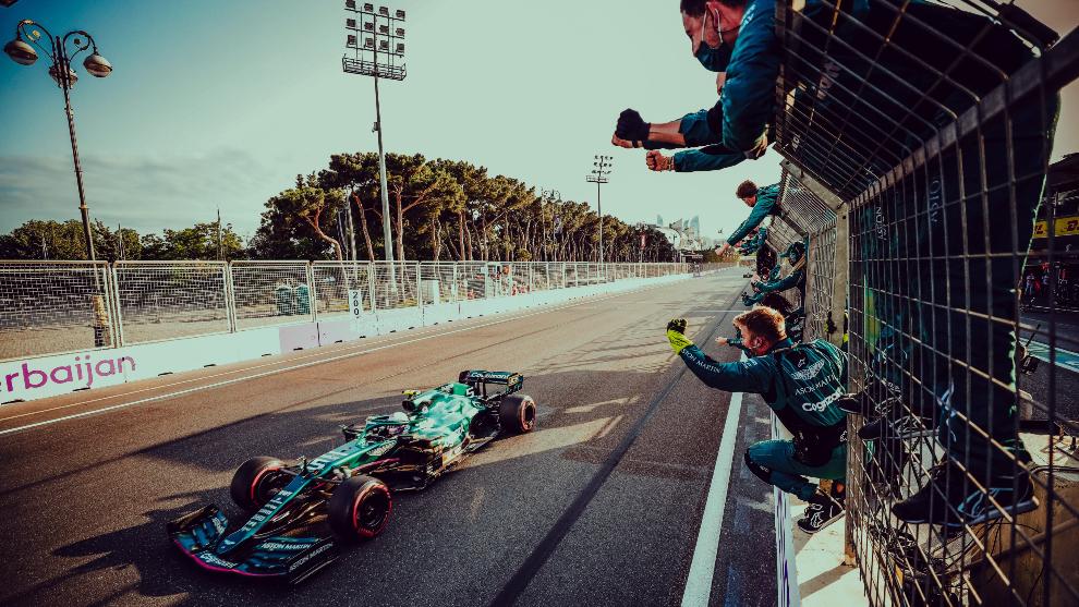 Vettel, en pista.