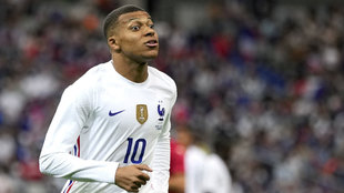 Kylian Mbappe with France.