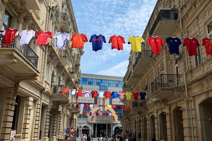 The streets of Baku