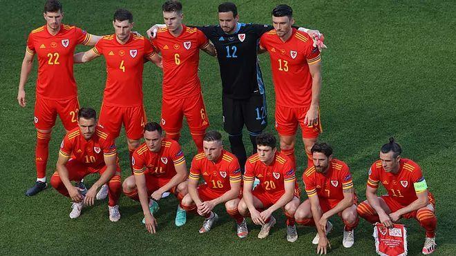 Wales' pre-match photo
