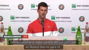 La frase demoledora que se recordará cada vez que se hable del último Nadal-Djokovic