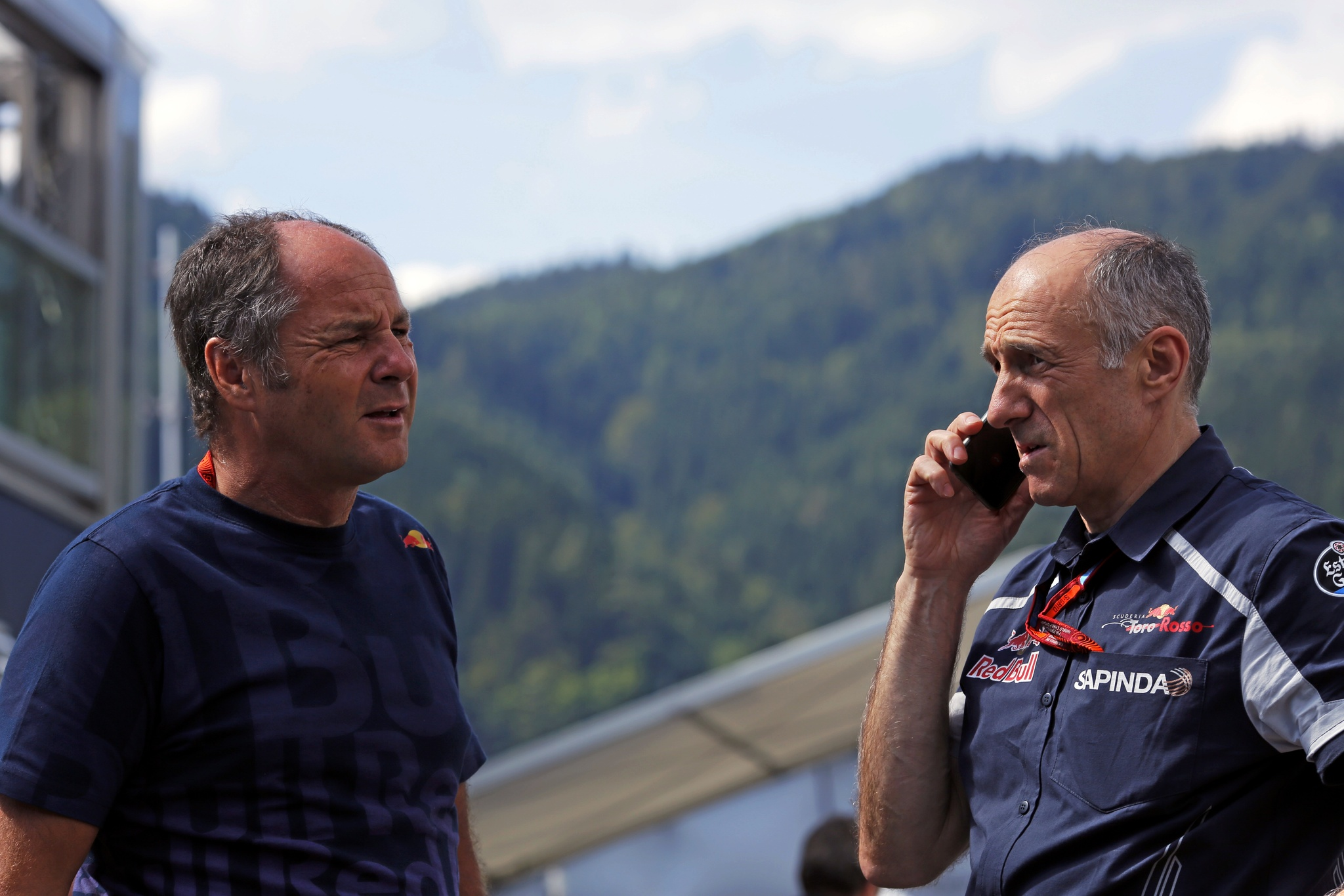 Gerhard Berger  y Franz Tost en Austria 2016