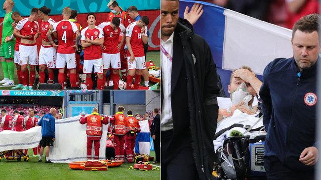 """El tremendo susto que dejó helada la Eurocopa: """"Eriksen está estable y puede hablar"""""""
