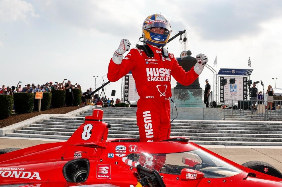 Marcus Ericsson logró su primer triunfo en Indycar.