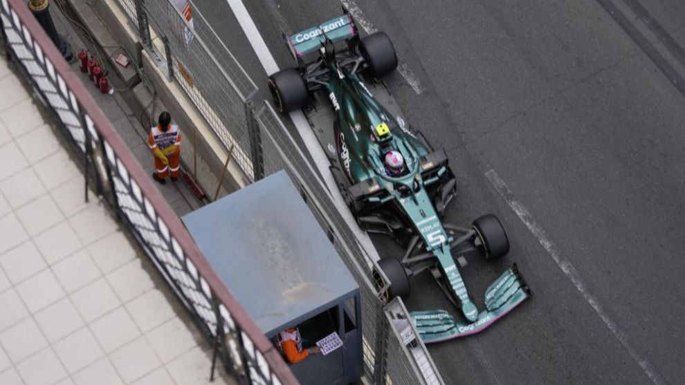 Vettel, en Bakú.