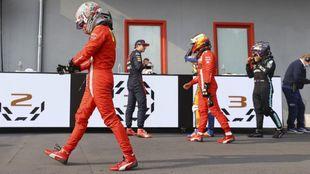 Leclerc, Verstappen, Norris, Sainz y Hamilton, en Mónaco.