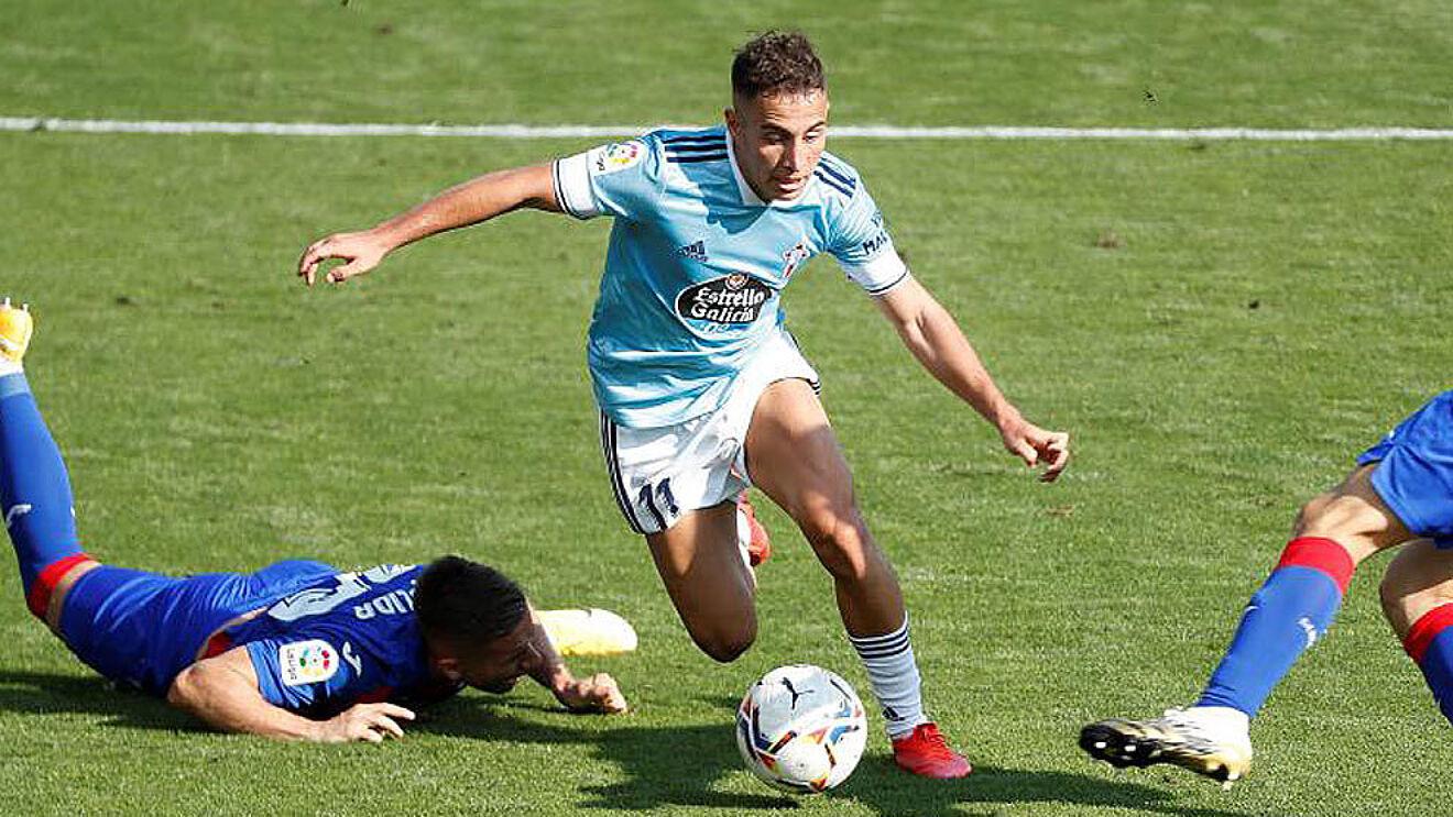 Emre Mor (23) en un partido de esta temporada frente al Eibar.
