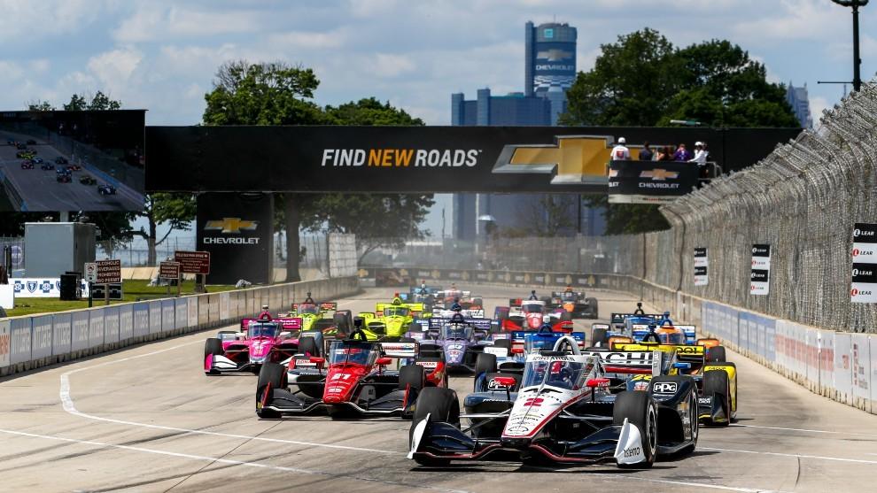 Detroit GP - salida - Alex Palou - Indycar - Colton Herta
