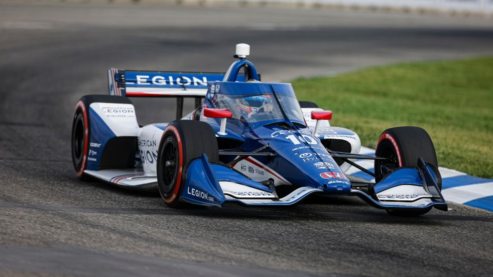 Alex Palou - Detroit GP - podio - Ganassi - Indycar - lider