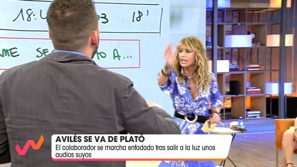Emma García, durante su enfrentamiento verbal con José Antonio Avilés /