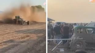 Un montaje con imágenes del accidente.