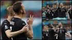 Celebración del gol de Arnautovic.