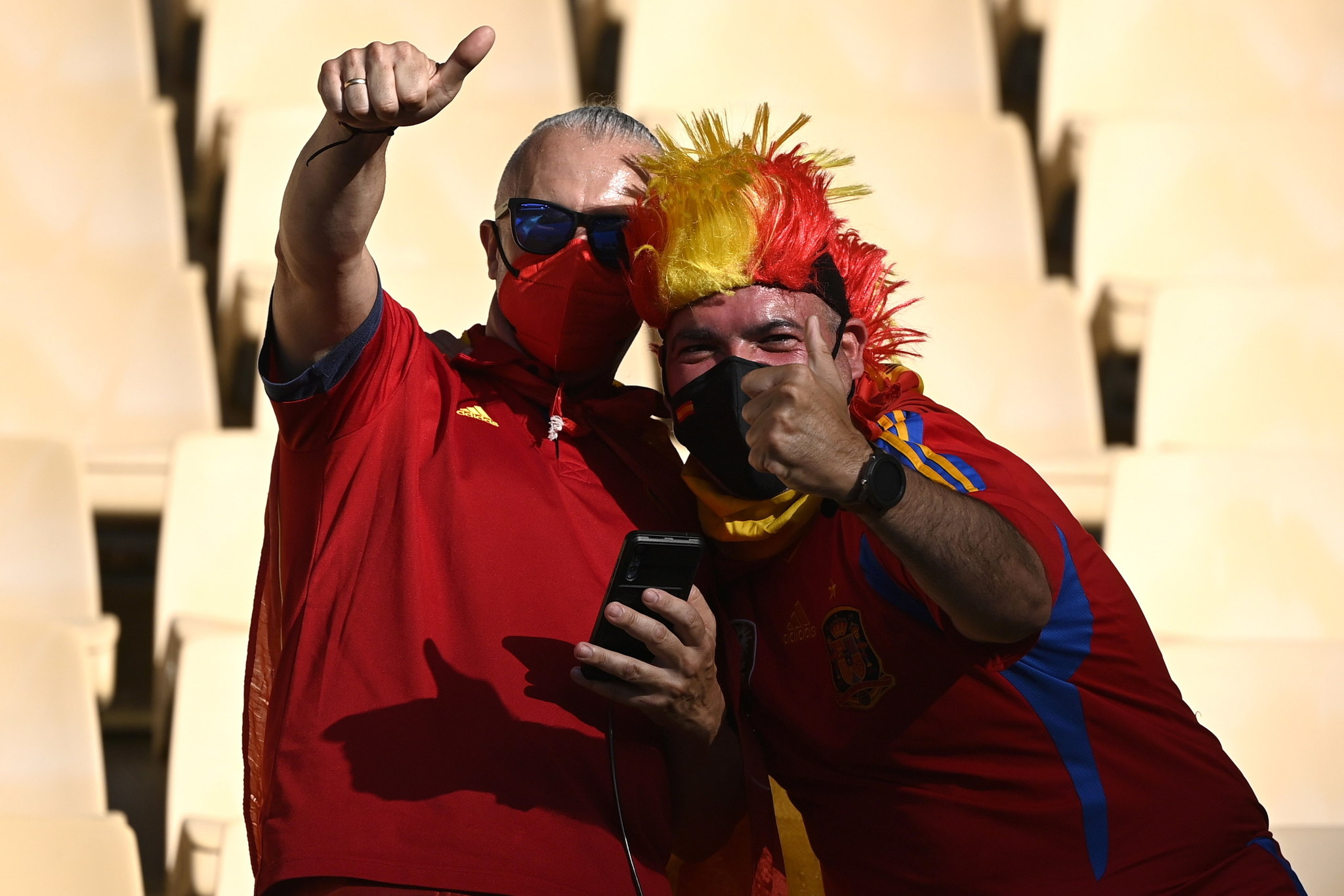 Spain Supporters prior to the Euro 2020 game with Sweden