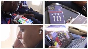 De lo que ve Mbappé en el portátil a la partida de parchís: así viajan los cracks de Francia