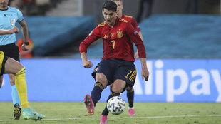 Álvaro Morata, durante el partido ante Suecia