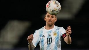 Messi en el partido contra Chile