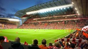 Anfield durante un encuentro.