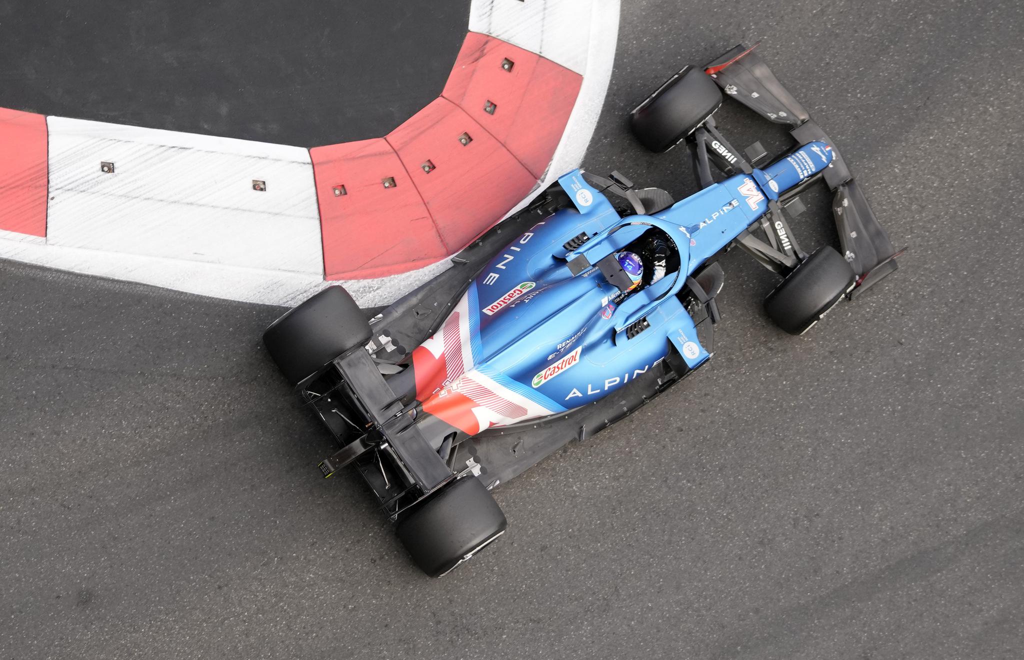 Fernando, en pista.