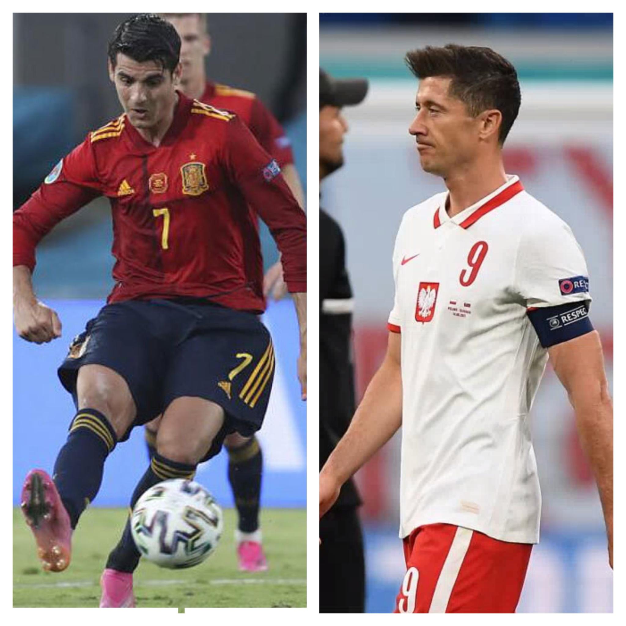 Morata (28) y Lewandowski (32) se verán las caras en el próximo partido.