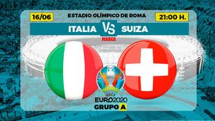 El partido Italia - Suiza del grupo A que se juega este miércoles en...
