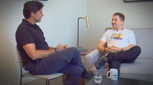 Lorenzo, en un momento de la entrevista con Fran Rivera.