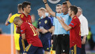 Thiago entra por Rodri en el partido contra Suecia.