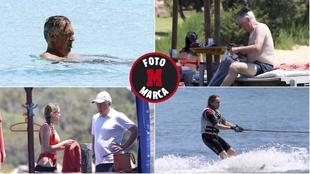 Las vacaciones de Ancelotti: dolce vita y esquí acuático de su mujer