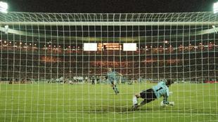 Southgate falla el penalti ante Alemania.