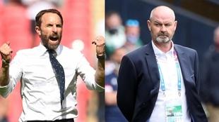 Southgate y Clarke, seleccionadores de Inglaterra y Escocia en la...