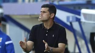 Antonio Hidalgo gesticula durante el partido en Santo Domingo