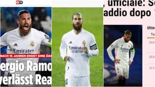La despedida de Ramos, en los medios internacionales