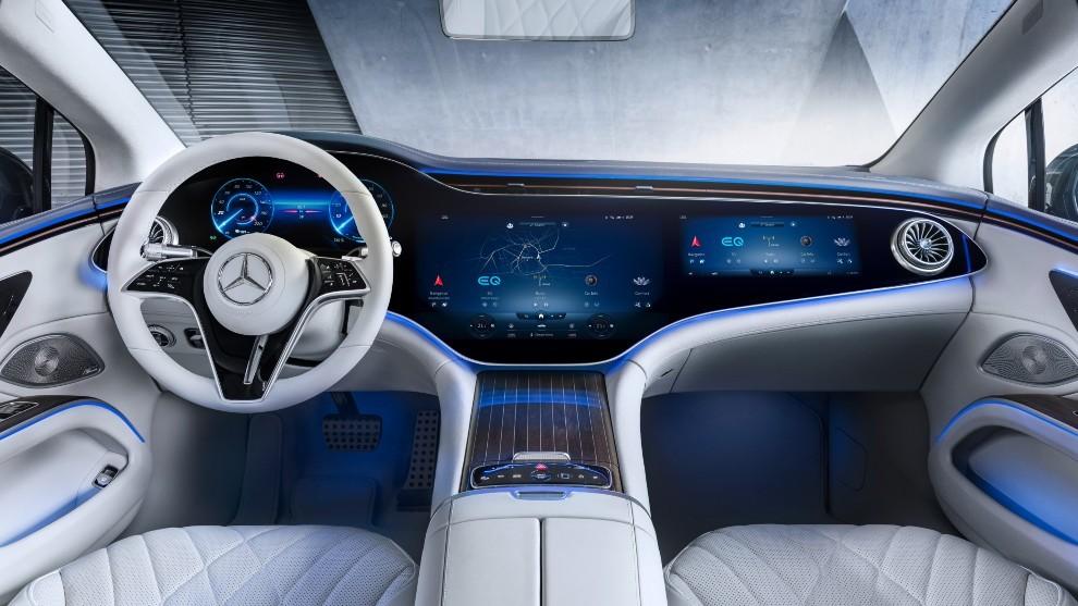 El Hyperscreen de Mercedes es la pantalla más grande instalada en un coche de producción.