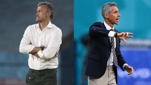 Luis Enrique y Paulo Sousa, seleccionadores de España y Polonia en la...